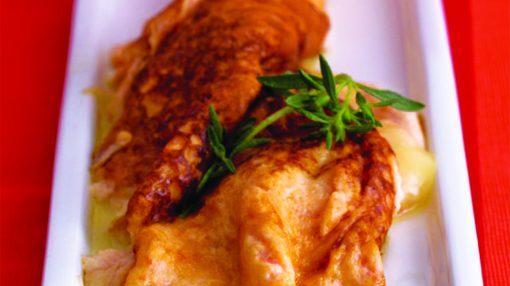 pomidorlu pendirli omlet