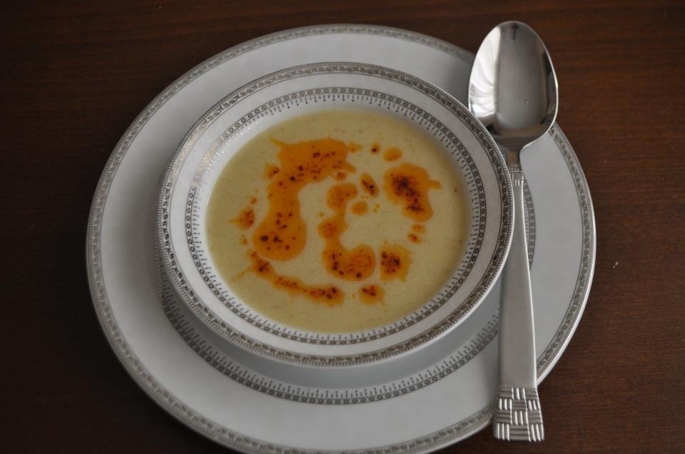 közlənmiş badımcan şorbası