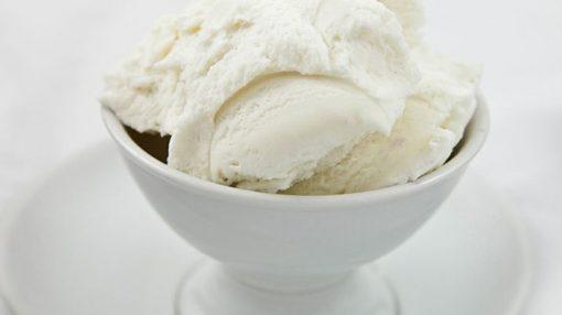 Ev şəraitində vanilli dondurma