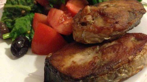 kişniş soslu balıq