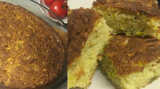 Pırasalı və pendirli duzlu keks