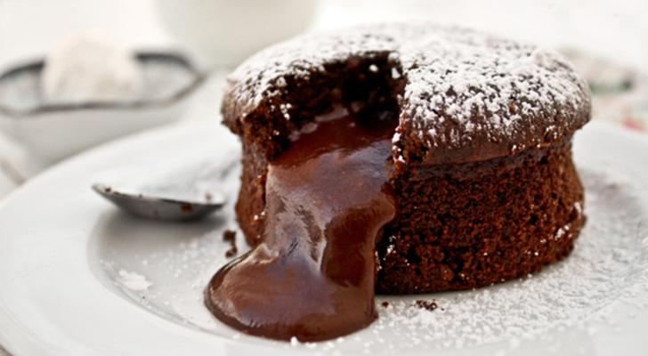 İsti şokoladlı keks