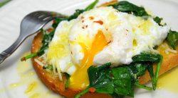 Ispanaqlı yumurta