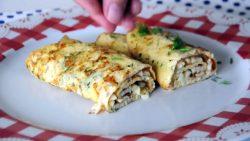 iki pendirli omlet