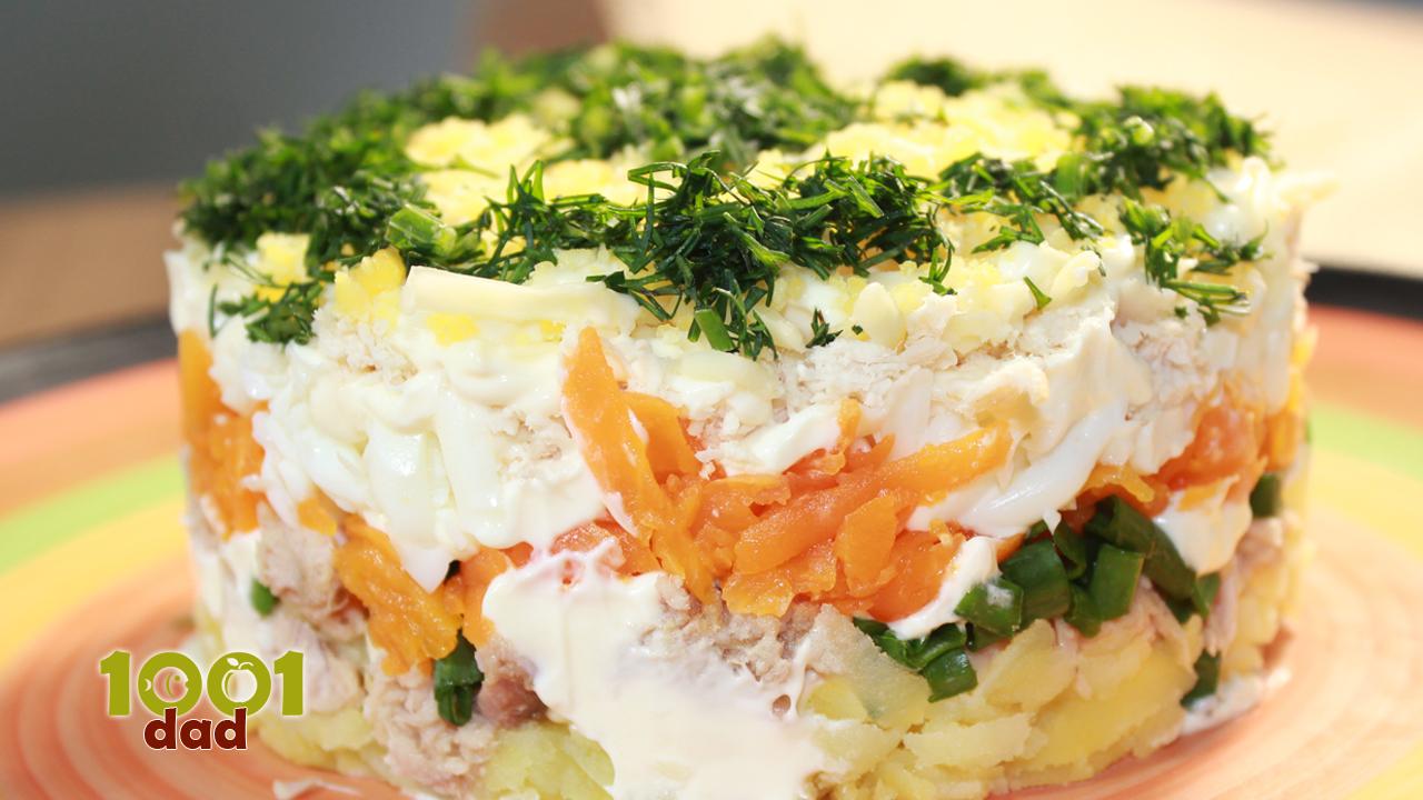 Ton balıqlı viola salatı