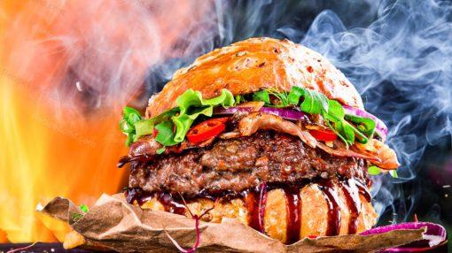 evdə hamburger