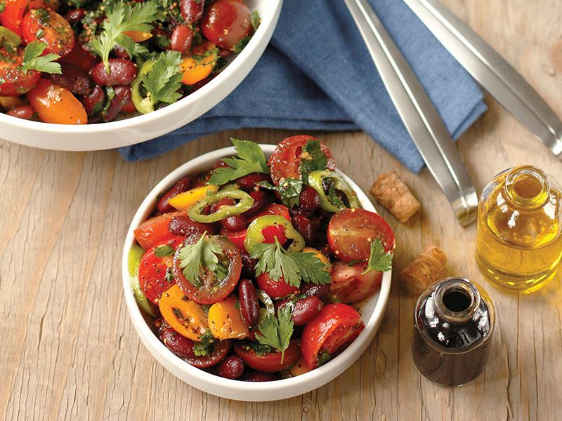 qırmızı lobyalı salat