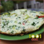 Pendirli vetçinalı omlet